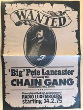 BIG PETE LANCASTER - CHAIN GANG 1975 - orig.Concert Poster - Konzert Plakat