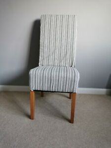 4 Newly Upholstered Solid Wood Dining Chairs