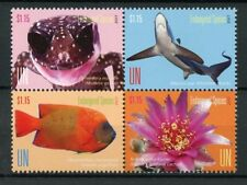 United Nations UN New York 2017 MNH Endangered Species 4v Block Sharks Stamps