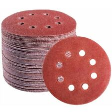 72PCS 5Inch Sanding Discs Hook and Loop 8 Holes Random Orbital Sander Sandpaper