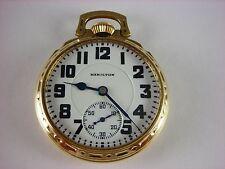 Antique all original 16s Hamilton 992 Rail Road pocket watch 1929. Model 6 case!