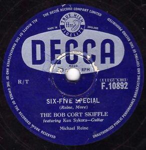 BOB CORT SKIFFLE 78 TV THEME  SIX-FIVE SPECIAL / ROLL JEN JENKINS DECCA F10892 E