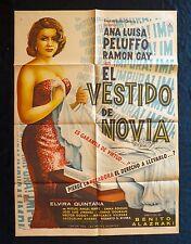 SEXY Ana Luisa Peluffo EL VESTIDO DE LA NOVIA Mexican Movie Poster 1958