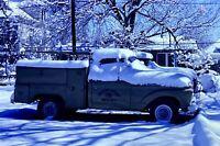 Deep Snow Cars Truck Ruins 35mm Picture Slides 1970's Lot Pictures Vintage Photo