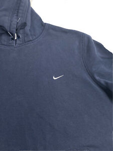 Mens Nike Sweatshirt Hoodie Embroidered Swoosh Jacket Pullover Blue XL