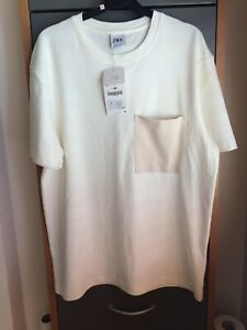Mens Cream T-shirt, Zara, Size L, New with tags on