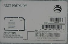 Lot of (50) AT&T Prepaid 4G LTE 6661A Triple Cut S SIM Card