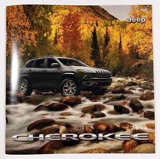 2018 Jeep Cherokee 34-page Original Sales Brochure Catalog + Buyer's Guide NEW