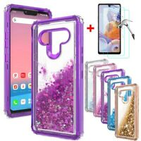 For LG Stylo 6 Phone Case Shockproof Bling Hybrid Hard Cover + Screen Protector
