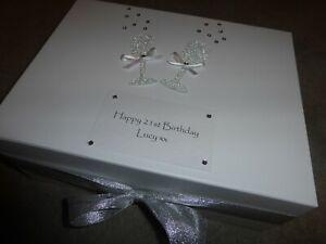 Personalised Keepsake Memory Box Wedding 18th 21st 30th 40th 50th Engagement