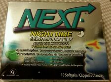 NEXT Nighttime Cold & Flu Relief Softgels- 10 Count