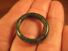 Natural  Jadeite Jade ring stone mineral carving  Size 7 US  A580