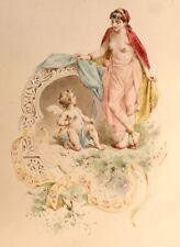 ❤️ 1884 Paul Avril Superbe Aquarelle originale Mon oncle Barbassou Orientalisme