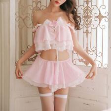 6pcs Sexy Lingerie Set Cute Cosplay Chiffon Kitten Cat Nightwear Suits for Women