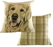 Golden Retrieiver Dog Cushion Cover - Waggy Dogz Range Quality Handmade in UK