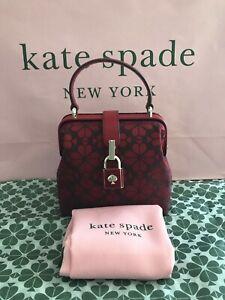 Kate Spade Remedy Spade Flower Small Top-Handle / Crossbody Bag $278 Zinnia Red