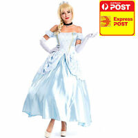 Classic Beauty Princess Cinderella Adult Storybook Fairytale Fancy Dress Costume