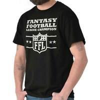 Fantasy Football Champion Sports Draft Team Mens Short Sleeve Crewneck Tee