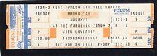 1981 Journey Loverboy Unused Full Concert Ticket Los Angeles Escape Tour
