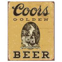 COORS Golden Beer Distressed Vintage Bar Pub Garage Man Cave Wall Art Decor Sign