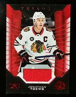 Jonathan Toews - 2019-20 Upper Deck Trilogy Red #34 Jersey Blackhawks
