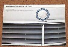 1980 MERCEDES Sales Brochure Poster inc 500SL, 380SLC, 280TE, 230CE, 230E, 300TD