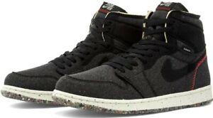 Nike Air Jordan 1 High Zoom Crater Black Crimson Red Grey CW2414-001 Men's 7