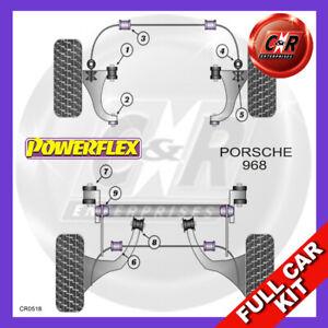 For Porsche 968 (1992-1995) Frt Wishbone Round Rr Bushes Powerflex Full Bush Kit