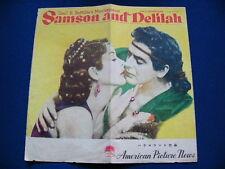 1951 SAMSON AND DELILAH Japan VINTAGE PG Hedy Lamarr Victor Mature