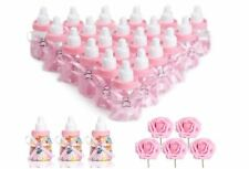 N&T NIETING Baby Shower Bottles 24Pcs Baby Shower Favours Artificial Flower Gift