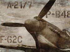 Vintage Airplane ists Art Poster Print by Dylan Matthews, 31.5x23.5