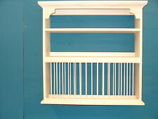 Organizer Crown moulding Wood cup Plate Dish Rack Art shelf Cabinet kitchen