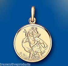 St. Christopher Pendant Gold Large Saint Christopher 22mm