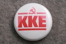 "KKE Greek Communist Party Greece Hellenas Button Badge Pin 1"" Socialist Labor"