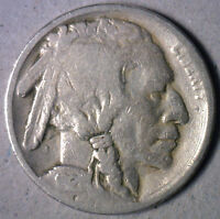 1921 Buffalo Nickel Coin Indian Head Five Cents  US Type G Good