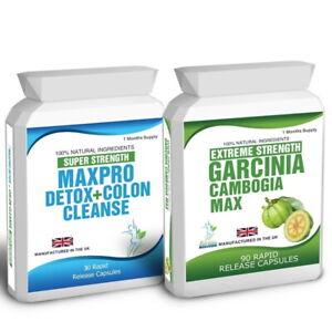 90 GARCINIA CAMBOGIA 30 MAX CLEANSE PRO DETOX PLUS FREE DIETING TIPS