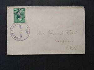 Maine: Kezar Falls 1889 #213 Cover, XF Fancy Shaded Star Cancel
