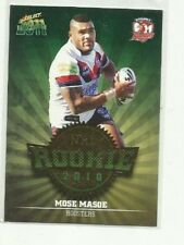 2011 NRL SELECT CHAMPIONS SYDNEY ROOSTERS MOSE MASOE ROOKIE R51 CARD