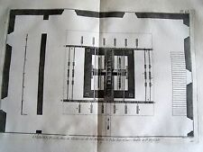 91-3-77 Gravure 1783 Panckoucke glaces, plan machine à polir à St Ildefonse