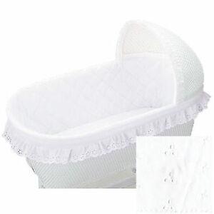 Bassinet Bumper 16 x 32 - White Ruffle