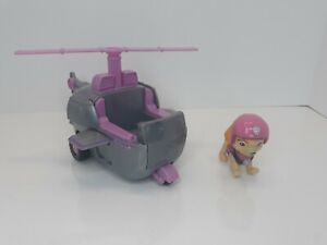 Paw Patrol SKYE HELICOPTER Vehicle Dog Figure Nickelodeon Sky Chopper Spinmaster
