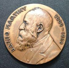 DEUTSCHE / BRONZE MEDAL / BENNO MARTINY / 1836-1923 / Large Medal 83 mm / M85