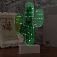 1 Pc LED Tunnel Lamp Cactus Shape Night Light Decorative Light Sign for Bedroom
