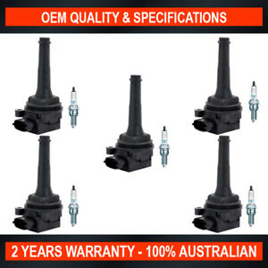 Pack of Swan Ignition Coil & NGK Spark Plugs for Volvo S70 B5244S2 (2.4L)