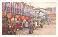 CPA JAPON GLYCINES AU TEMPLE DE KAMEIDO TOKYO