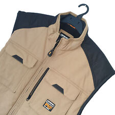 Men's TIMBERLAND Pro Series Premium Khaki Body Warmer/Utility Jacket XL *VGC*