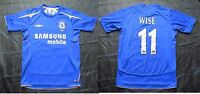 Dennis Wise #11 CHELSEA LONDON home shirt Umbro 2005-2016 The Blues adult size S