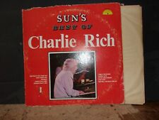 CHARLIE RICH SUN'S BEST OF CHARLIE RICH   VINYL LP SUN RECORDS LONELY WEEKENDS