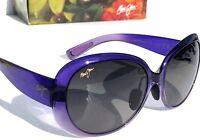 NEW* Maui Jim NAHIKU Purple Violet POLARIZED Grey Grad Women's Sunglass GS436-28