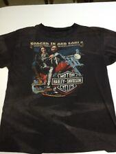 Vtg Vintage Harley Davidson 3D Hog Emblem Double Sided T Shirt L Thin